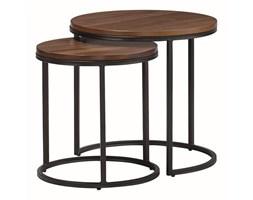 Zestaw stolików kawowy COSTA orzech - MDF, metal