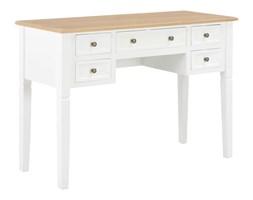 vidaXL Biurko, białe, 109,5x45x77,5 cm, drewniane