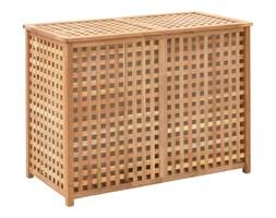 vidaXL Kosz na pranie, 87,5x46x67 cm, lite drewno orzechowe
