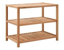 vidaXL Półka łazienkowa z drewna orzechowego, 65x40x55 cm