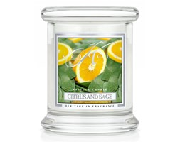 Kringle Candle - Citrus and Sage - mini, klasyczny słoik (128g)