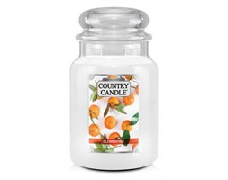 Country Candle - Clementine - Duży słoik (680g) 2 knoty