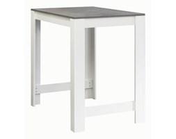 Biały stół z blatem w dekorze betonu TemaHome Sulens, szer. 110 cm