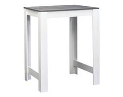 Biały stół z blatem w dekorze betonu TemaHome Sulens, szer. 70 cm