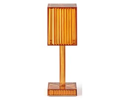 Lampa GATSBY 24,5 cm kwadratowa - bursztynowa