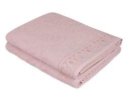 Komplet 2 różowych bawełnianych ręczników Noktali Sal, 90x150 cm