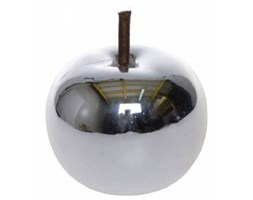 Figurka dekoracyjna jabłko srebrne mini