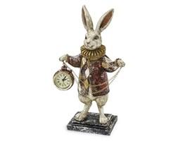 KRÓLIK W ŻABOCIE Z ZEGARKIEM figurka, dekoracja, wys. 30 cm