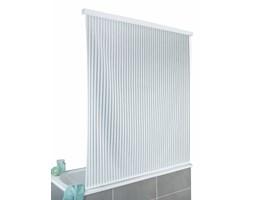 Zasłona prysznicowa Blind, biała z paskami, 132 x 240 cm, WENKO