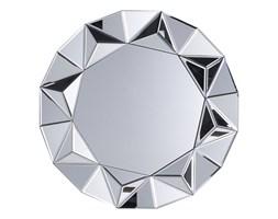 Lustro ścienne srebrne ø70 cm HABAY