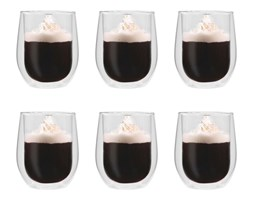 vidaXL Dwuścienne filiżanki termiczne na kawę, 6 szt., 320 ml
