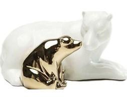Figurka dekoracyjna Polar Bear Love 26x14 cm biało-złota