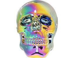 Figurka dekoracyjna Skull Rainbow 20x30 cm kolorowa