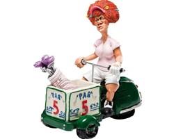 Figurka dekoracyjna Golfer Lady 10x18 cm kolorowa