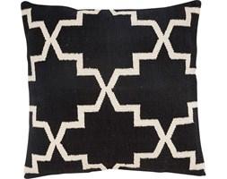 Poduszka dekoracyjna Woven 60x60 cm czarno-biała