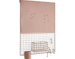 Tablica magnetyczna z siatką i akcesoriami 50x66 cm różowa