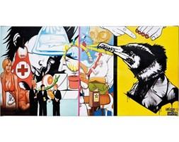 Obraz Grafitti Emergency 100x50 cm kolorowy
