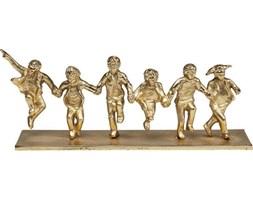Dekoracja stojąca Dancing Group 39x15 cm złota