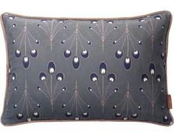 Poduszka dekoracyjna Peacock 50x30 cm ciemnoszara
