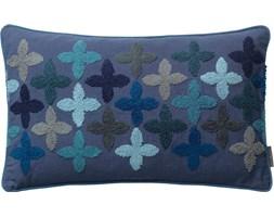 Poduszka dekoracyjna Happiness 50x30 cm ciemnoniebieska