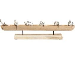 Dekoracja stojąca Rowboat 65x15 cm drewniano-srebrna