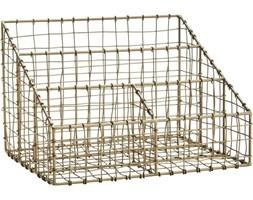 Organizer biurowy 31x24 cm druciany mosiężny