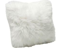 Poduszka dekoracyjna Fur 40x40 cm biała