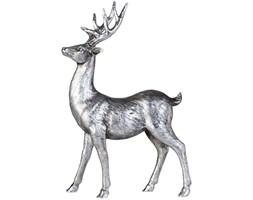 Figurka dekoracyjna Serafina Deer 22x35 cm antyczne srebro