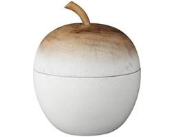 Figurka dekoracyjna Orela Apple Ø5x6 cm biało-naturalna