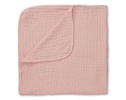 Kocyk muślinowy 100x100 cm różowy