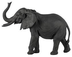 Figurka dekoracyjna Serafina Elephant 26x19 cm czarna
