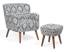 Fotel kolorowy z hokerem tapicerowany TUMBA