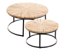 Dekoria Komplet stolików Argenta 2 szt., 80 x 80 x 40 cm