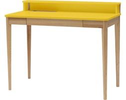 Biurko Ashme 110x56 cm żółte