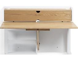 Biurko naścienne Cathly 100x74 cm biało-drewniane