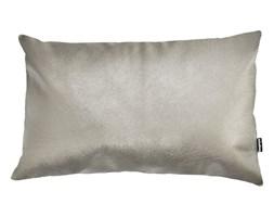 Skórzana poduszka Spark srebrna półmatowa 50x30 cm