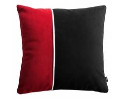 Pram S czerwona welurowa poduszka dekoracyjna 40x40 cm