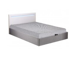 Łóżko tapicerowane LED Olivier 160x200 z pojemnikiem