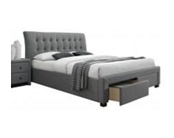 Łóżko do sypialni Hiriam 160x200  jasnoszare z szufladami