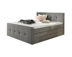 Łóżko kontynentalne Messa 160x200 cm jasnoszare