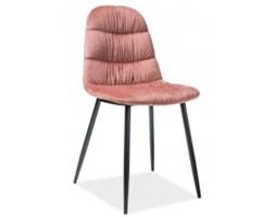 Krzesło pikowane Irene różowe