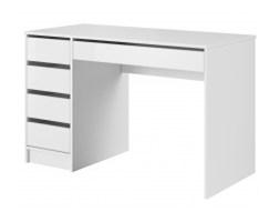 Biurko z szufladami Raflo białe połysk