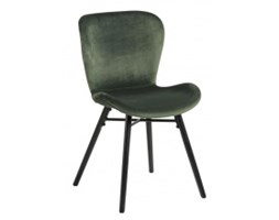 Krzesło do jadalni Bati zielone welur