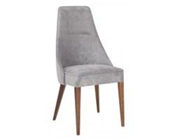 Krzesło drewniane do salonu Silla szare/buk welurowe