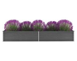 vidaXL Donica ogrodowa z galwanizowanej stali, 320 x 80 x 45 cm, szara