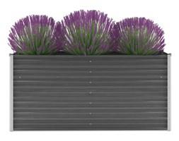 vidaXL Donica ogrodowa z galwanizowanej stali, 160x40x77 cm, szara