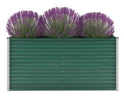 vidaXL Donica ogrodowa z galwanizowanej stali, 160x40x77 cm, zielona