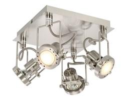 vidaXL Lampa z 4 reflektorami, srebrna, GU10
