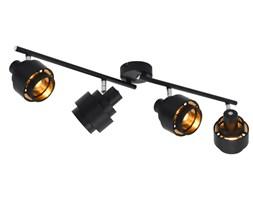 vidaXL Lampa z 4 reflektorami, czarna, E14