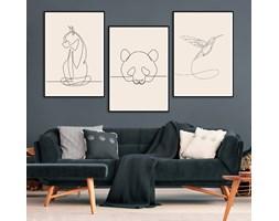 DecoKing - Zestaw plakatów ściennych - Sketchline - Animals